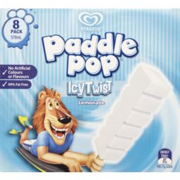 Photo of Streets Paddle Pop Icy Twist Lemonade Ice Blocks 8 Pack 576ml