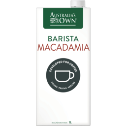 Photo of Australias Own Barista Macadamia Long Life Milk 1l