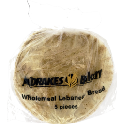 Photo of Drakes Bakery Wholemeal Lebanese Bread 5 Pack