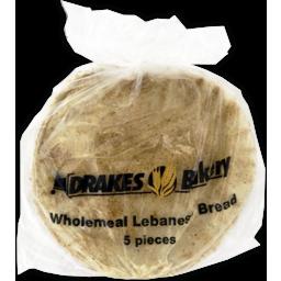 Photo of Drakes Bakery Wholemeal Lebanese Bread 5 Pack