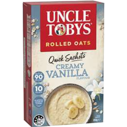 Photo of Uncle Tobys Rolled Oats Quick Sachets Creamy Vanilla 10 Pack