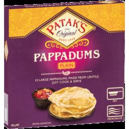 Photo of Pataks Plain Pappadum 100g