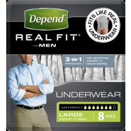 Photo of Depend Realfit Underwear Male L 8x4