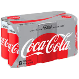 Photo of Coca Cola Diet 200ml 8pk