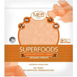 Photo of MEB Superfoods - Pumpkin, Potato & Turmeric Wrap
