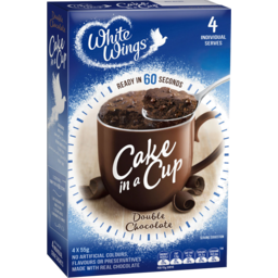Photo of White Wings Cake In A Cup Mix Double Chocolate 4 Pack 220g