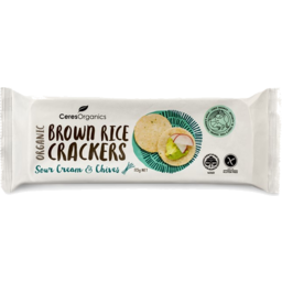 Photo of Ceres Organics Brown Rice Crackers - Sour Cream & Chives