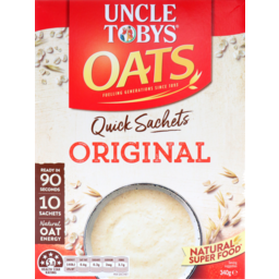 Photo of Uncle Tobys Rolledf Oats Quick Sachet Original 10 Pack 340g