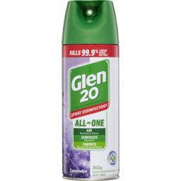 Photo of Glen 20 All-In-One Disinfectant Spray Lavender Eliminate Odour Disinfect 300g