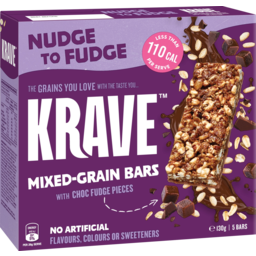 Photo of Krave Nudge To Fudge Mixed Grain Bars With Choc Fudge Pieces 5 Pack 130g