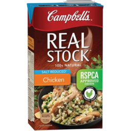 Photo of Campbells Real Stock Chicken Salt Reduced 1l