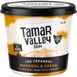 Photo of Tamar Valley The Creamery Mangoes & Cream Greek Style Yoghurt 700g