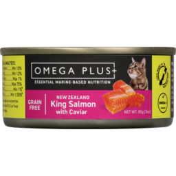 Photo of Omega Plus Wet Cat Food Salmon Caviar 85gm