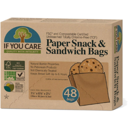 Photo of If You Care Sandwich & Snack Bags - 48 Paper Bags