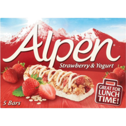 Photo of Alpen Strawberry Yoghurt Muesli Bars 5x145gm