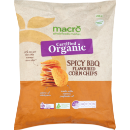 Photo of Macro Organic BBQ Corn Chips 200g