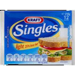 Photo of Kraft Cheese Singles Light 216gm