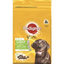 Photo of Pedigree Dog Food Dry Adult Light With Lean Lamb 3kg