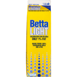Photo of Betta Light Milk Carton 1L