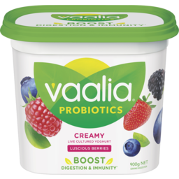 Photo of Vaalia Probiotic Luscious Berries Yoghurt 900g