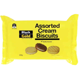 Photo of Black & Gold Assorted Cream Biscuits 400gm