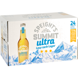 Photo of Speight's Summit Ultra Low Carb 330ml Bottles 24 Pack