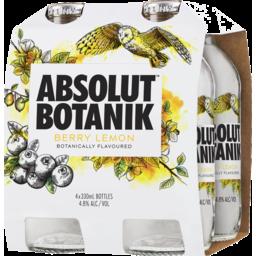 Photo of Absolut Botanik Berry Lemon 4x330ml