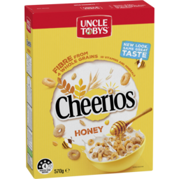 Photo of Uncle Tobys Cheerios Honey Breakfast Cereal 570g