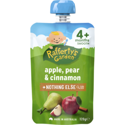 Photo of Raffertys Garden Apple, Pear & Cinnamon Baby Food 4m+ 120gm