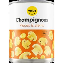 Photo of Value Champignons Pieces/Stem 184g