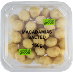 Photo of The Market Grocer Tub Macadamias Salted 150gm