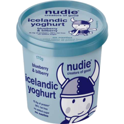 Photo of Nudie Icelandic Yoghurt - Blueberry & Bilberry 170gm