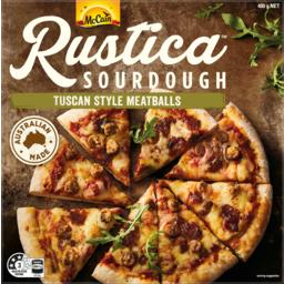 Photo of Mccain Rustica Tscan Style Meatballs Sourdough Pizza 400g