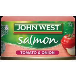 Photo of John West Salmon Onion & Tomato 95g