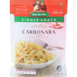 Photo of San Remo La Pasta Single Snack Carbonara 80g