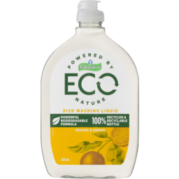 Photo of Palmolive Eco Antibacterial Dish Washing Liquid Powerful Biodegradable Formula Orange & Ginger 450ml