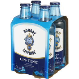 Photo of Bombay Sapphire Gin & Tonic 4x275ml