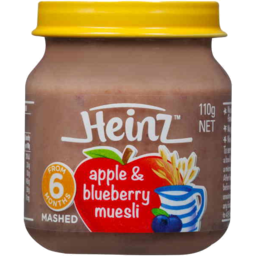 Photo of Heinz Smooth Apple & Blueberry Muesli 110g