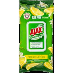 Photo of Ajax Ecorespect Multipurpose Antibacterial Biodegradable Compostable Wipes Fresh Lemon 110 Pack