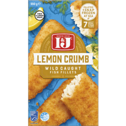 Photo of I & J Lemon Crumb Wild Caught Fish Fillets 7 Pack 550g
