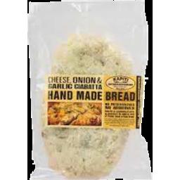 Photo of Kapiti Bread Cheese, Onion & Garlic Ciabatta 400g
