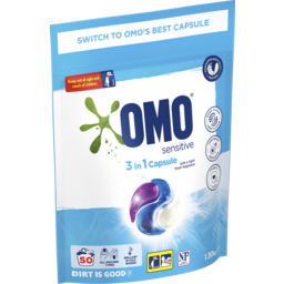 Photo of Omo Laundry Capsules 3in1 Sensitive 50 Pack 1.3 Kg