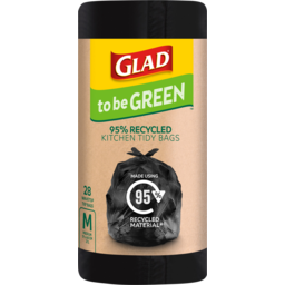 Photo of Glad To Be Green 95% Recycled Wavetop Medium Kitchen Tidy Bags 37l 28 Pack