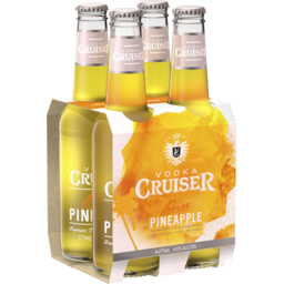 Photo of Vodka Cruiser Pineapple 4.6% 275ml 4 Pack
