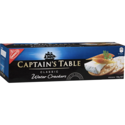 Photo of Captains Table Classic Water Biscuits 125g