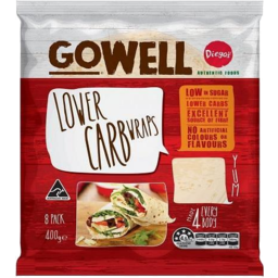 Photo of Diegos GoWell Lower Carb Wrap 8pk 400gm