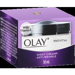Photo of Olay Provital Anti-Wrinkle Night Face Cream Moisturiser 50ml