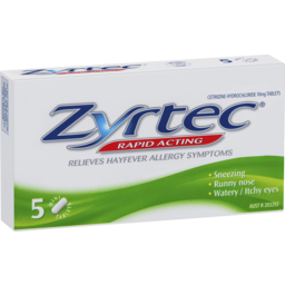 Photo of Zyrtec Hayfever Rapid Acting 5 Minitablets