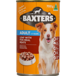 Photo of Baxter's Adult Dog Food, 1-7yrs, Loaf With Five Meats 700g
