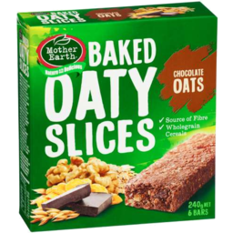 Photo of Mother Earth Baked Oaty Slice Chocolate Oats 240gm